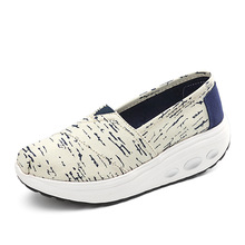 цены Women Spring New Canvas Shoes Woman Platform Shoes Fashion Sneakers Low-cut Non-slip Height Increasing Casual Shoes Best Sellers