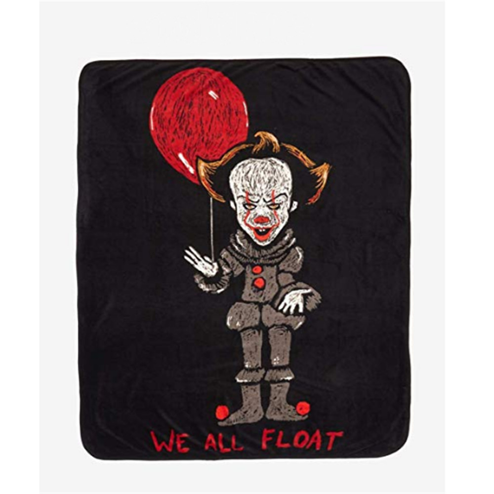 IT Chalk-Drawn Pennywise Throw Blanket