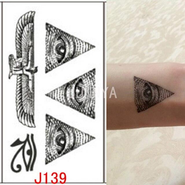 New Egypt Eye Tattoo Totem Tattoo Body Art Temporary Tattoos Sticker