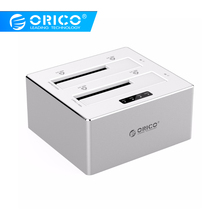 ORICO 3.5'' 2.5'' HDD Enclosure Sata Hard Disk Box Usb 3.0 Dual Clone Copy Function hdd Docking Station Support 8TB