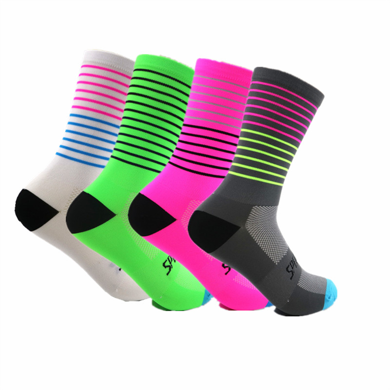 2019 Brand Colorful Sport Cycling Running Socks Men Women Sport Socks Coolmax