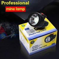 2017 New LED Rechargeable Cordless Mining Cap Light Waterproof LED Miners Lamp Headlight For Fishing And