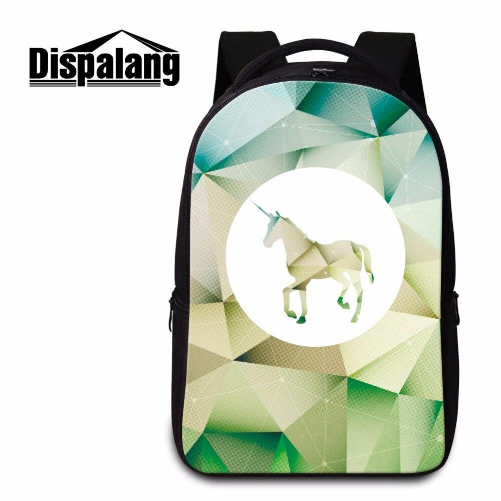 Dispalang licorne motif hommes sacs à dos pour ordinateur portable femmes sac pour ordinateur portable 14 pouces adolescent grand Bookbag pour l'école Mochila Escolar