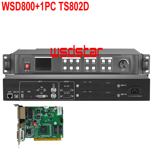 WSD800 1pc TS802D LED Video Processor HDMI DVI VGA input 1920 1200 pixel LED rental screen