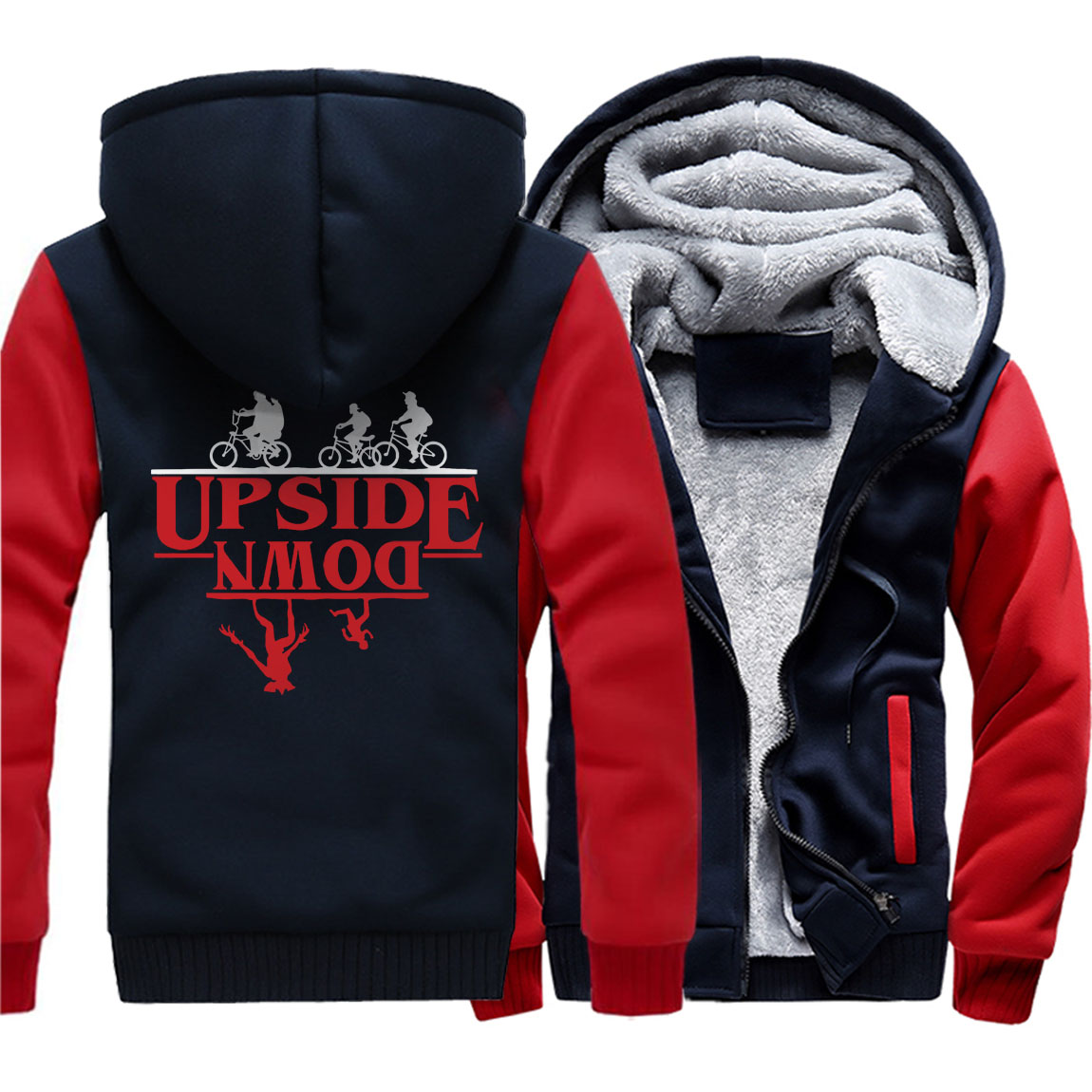 High Quality Streetwear Jacket Coats 2019 Stranger Things Hoodies Winter Wool Liner Clothes Men
