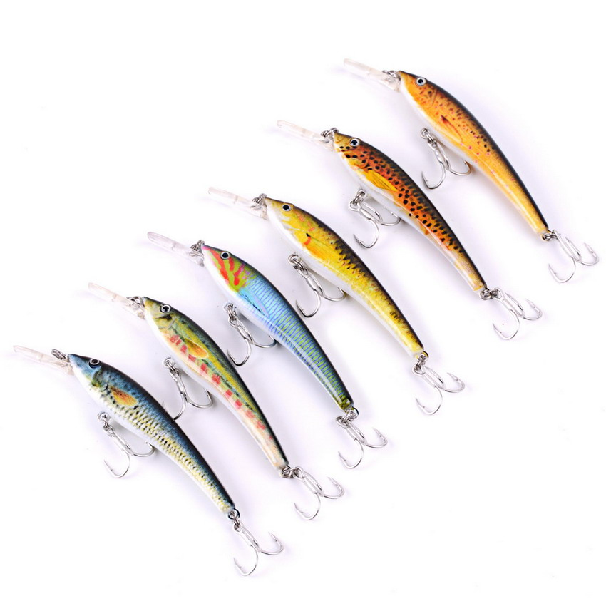 6pcs Minnow Fishing Lure Casting Hard Bait Minnow Crank Fishing Lures Bass Fresh Salt Water With Hooks Japan Hard Bait Swimbait