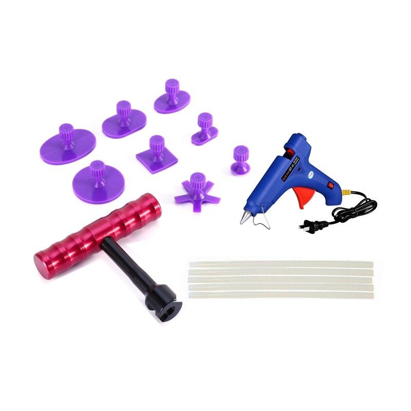PDR Инструменты Paintless Дент Ремонт Инструменты Дент удаления Дент Съемник захват Т-образная ручка ручной инструмент набор PDR набор инструмент...
