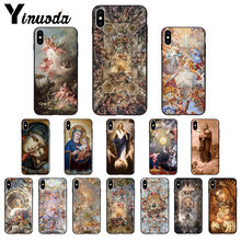 Yinuoda Madonna Church frescoes Angel God Customer High Quality Phone Case for iPhone 8 7 6 6S Plus 5 5S SE XR X XS MAX(China)