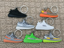 Mini Silicone BOOST 350 V2 Shoes Keychain Bag Charm Woman Men Kids Key Ring Key Holder Gift SPLY-350 Chic Sneaker Keychain(China)