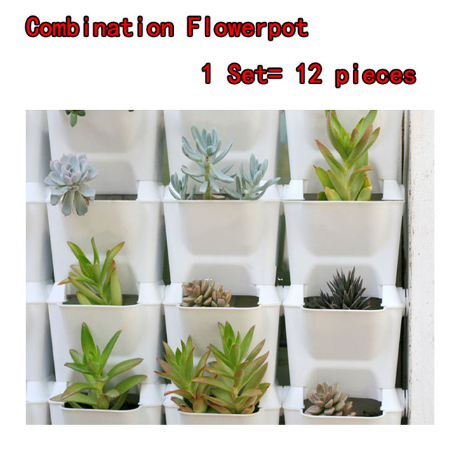 Flower Pots Planter For Balcony Flower Combination Flowerpot  Three Dimensional Wall Planters Pot Vertical Garden