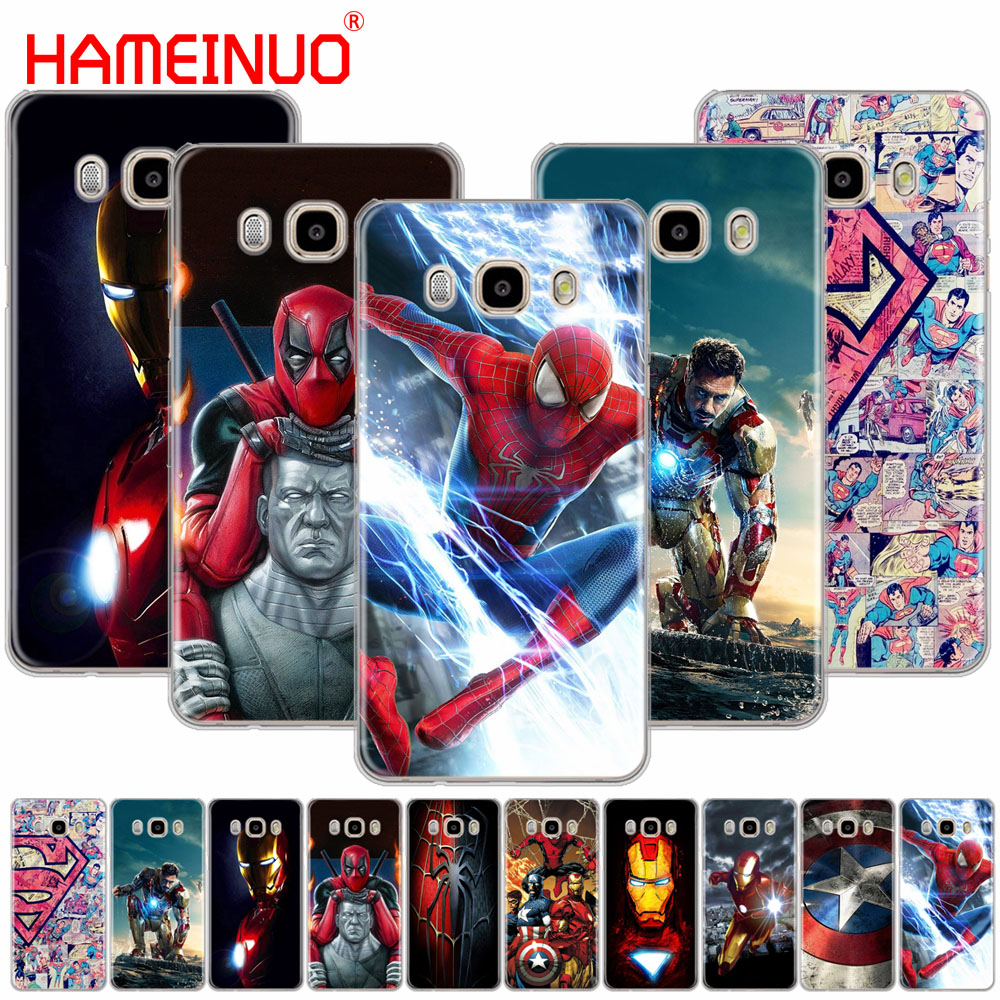 HAMEINUO Spider Man Iron Man cover phone case for Samsung Galaxy J1 J2 J3 J5 J7 MINI ACE 2016 2015 prime