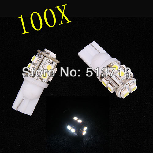 Automobiles & Motorcycles 100x Auto Car 10 Led T10 W5w 5w5 3528 Gauge Speedometer Bulb Dashboard Instrument Panel Light Reading Stop Light Cargo Xenon