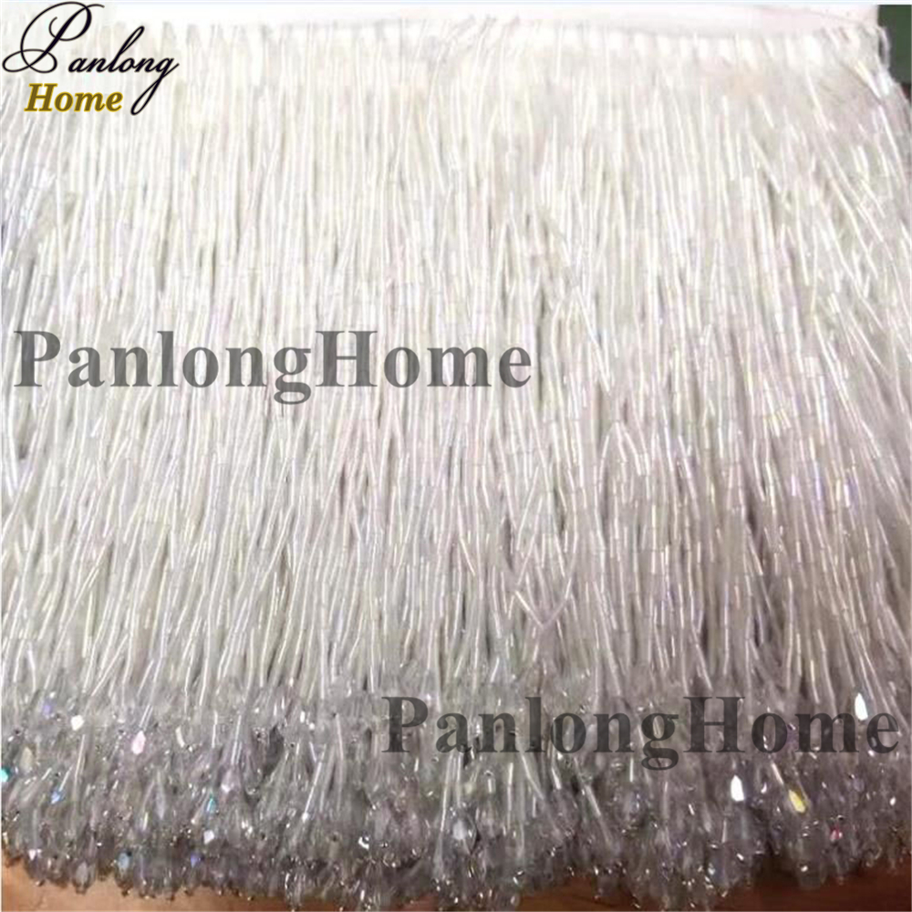 PanlongHome New Fringe Evening Dress Garments Dance Wear Lace Handmade Tassels Beading Lace 5 5 Yard