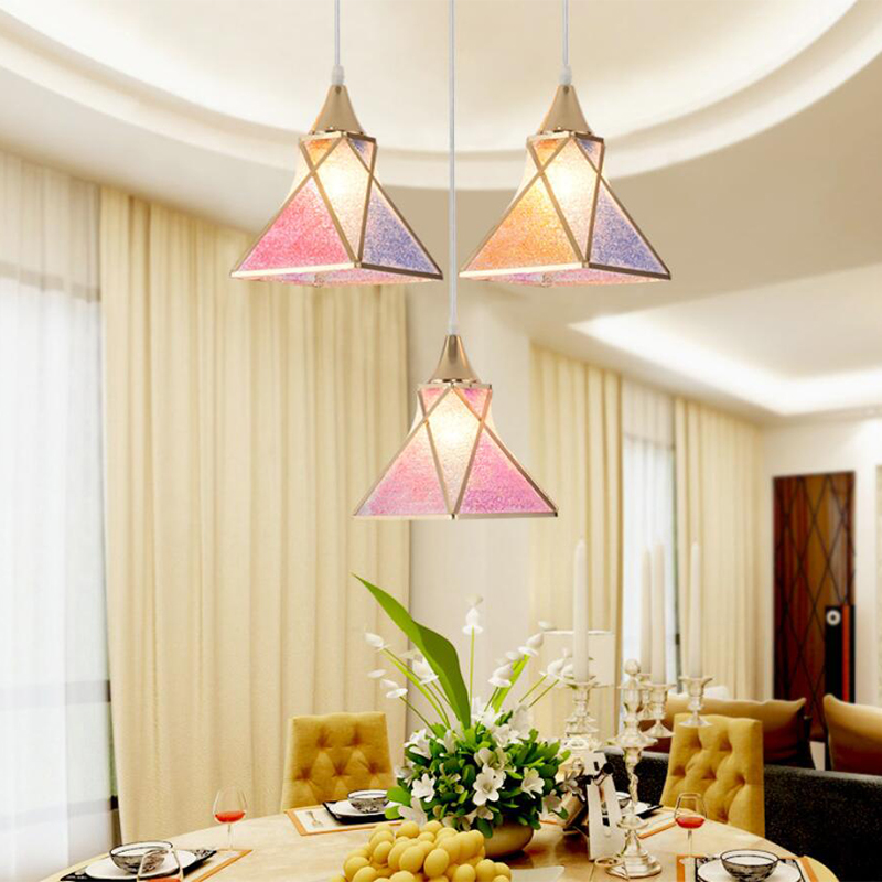 Dining room Pendant lights three head simple modern single head fashionable bedroom lamp hallway living room bar LED droplight led acrylic dinosaur eggs round droplight fashionable sitting room dining room lamp new bedroom lamp