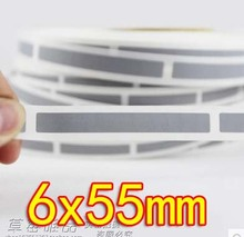 Freeshipping 6x55MM -Scratch Sticker Coating Silver Gray Password Stickers-1000pcs /roll