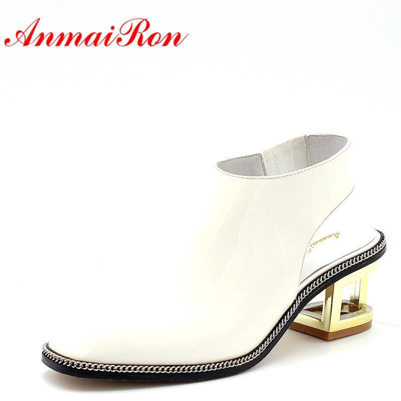 white Negro Blanco Verano Moda Zapatos Sandalias Tacones Mujeres Black  Cuero Las Bombas De Mujer Anmairon Clásico FqZqB 3e0e47bbbd99
