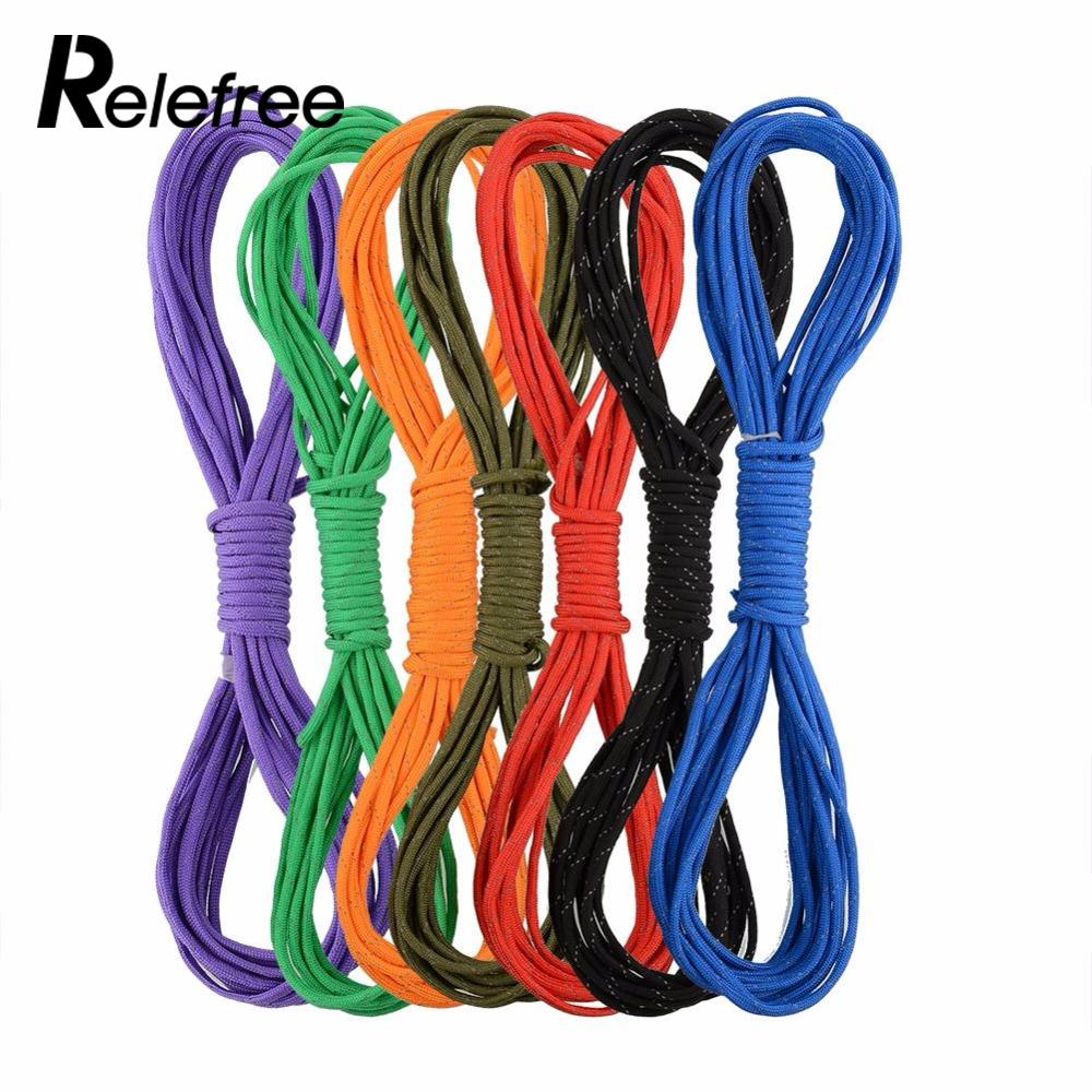 Relefree Paracord Parachute Cord Lanyard Rope 25FT 7 Core Strand Climbing Camping Survival Kits Equipment