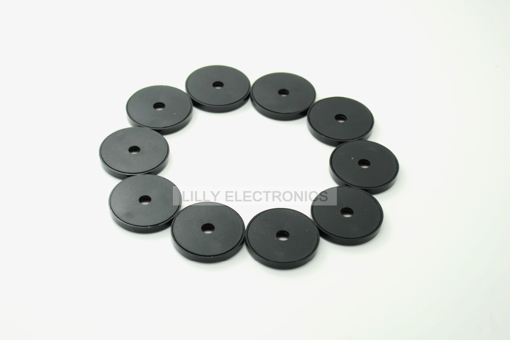 10pcs 125K RFID 30mm Coin Card Electronic Tag Anti-metal Black Color