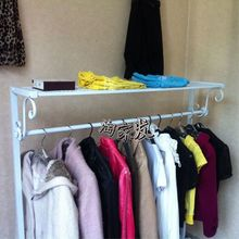New wrought iron clothing rack clothing display floor in the island shelf hangers clothing store window shelf bag