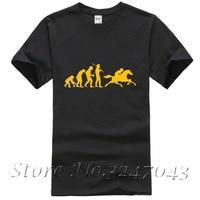 2017 Fashion Riding Horse Evolution T Shirts Men Cotton Summer Short Sleeve O Neck Evolution Monkey