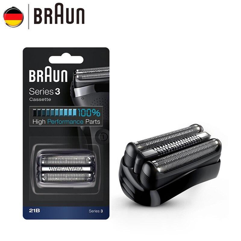 Braun Barbeador Elétrico Lâmina 21B 32B 32 s BT32 Folha para a Série 3 Recargas Barbeador Elétrico 300 s 301 s 310 s 3000 s 3020 s 3050cc Cruzer6