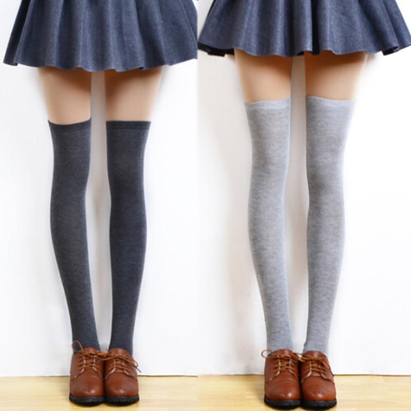 1Pair Sexy Women Girl Elastic Knee High Stockings Women's ...