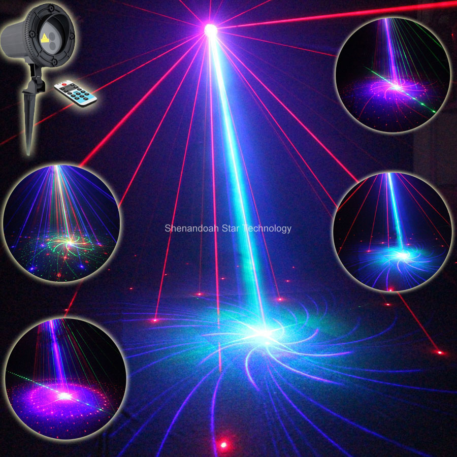 Outdoor Waterproof RGB Laser 24 Big Patterns Projector Holiday House Party Bar Xmas Tree DJ Wall Landscape Garden Light T88 mary pope osborne magic tree house cd edition books 17 24