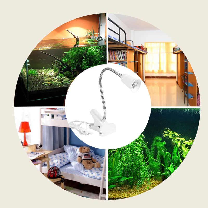 Hot Flexible Wire Neck Desk Lamp Socker Clip Holder Switch for E27 400MM PLD