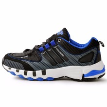 2016 New Men's Sneakers Red And Black Weaving Breathable Running Boots Outdoor Comfortable Running Shoes