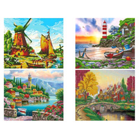 Lake DIY Diamond Painting full drill Castle Diamond embroidery full square Mosaic scenery Diamond painting special 5D drill