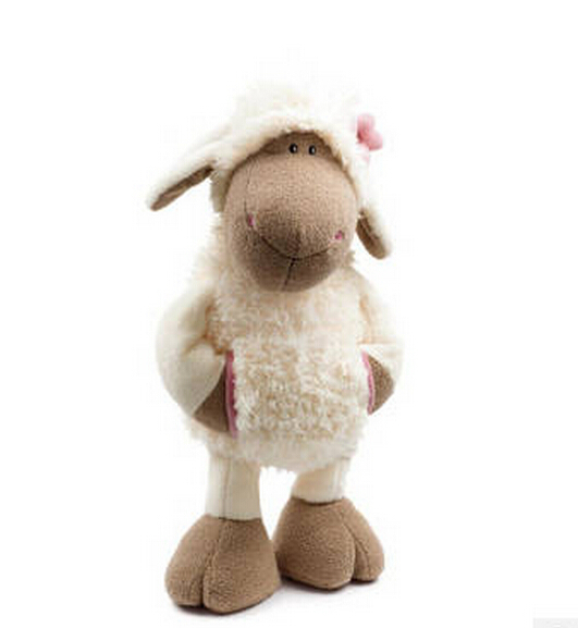 candice guo! new style NICI plush toy cute Pocket white Lucy sheep flower lamb stuffed doll birthday gift 35cm 1pc майка betty barclay майка