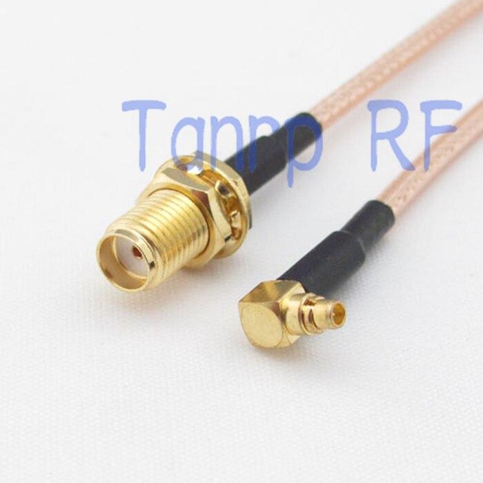 50 CM Pigtail cavalier câble coaxial RG316 rallonge 20in MMCX mâle à angle droit à SMA femelle jack RF adaptateur connecteur