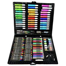 Deluxe Art Set,150Pcs Children'S Drawing Painting Sketching Tools Set Watercolor Pen Crayon Oil Pastel Paint Brush Drawing Pen 86pcs children drawing set water color pen crayon oil pastel painting brush drawing tool art supplies school stationery set