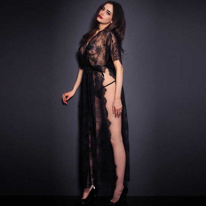 пос длинные рубашки новинки для женщин элегантный черный кружево porch Ruslan экзотических белье Seal No рубашки для девочек длинные Пэм