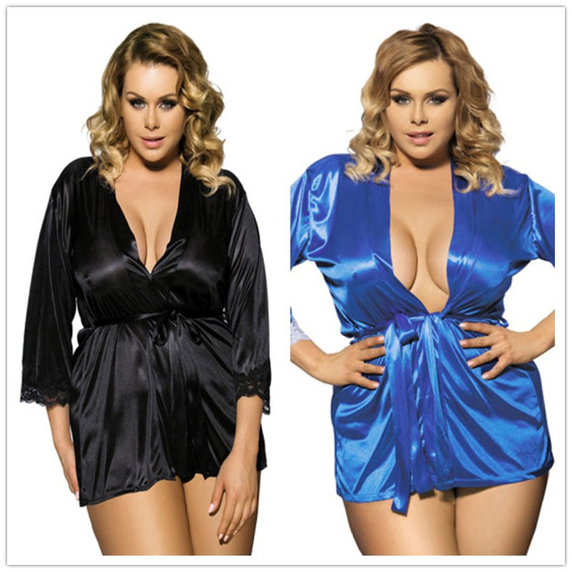 fbafd41f5a6 Europe and United States foreign trade plus-size women lingerie to heavy  fertilizer women s bathrobes