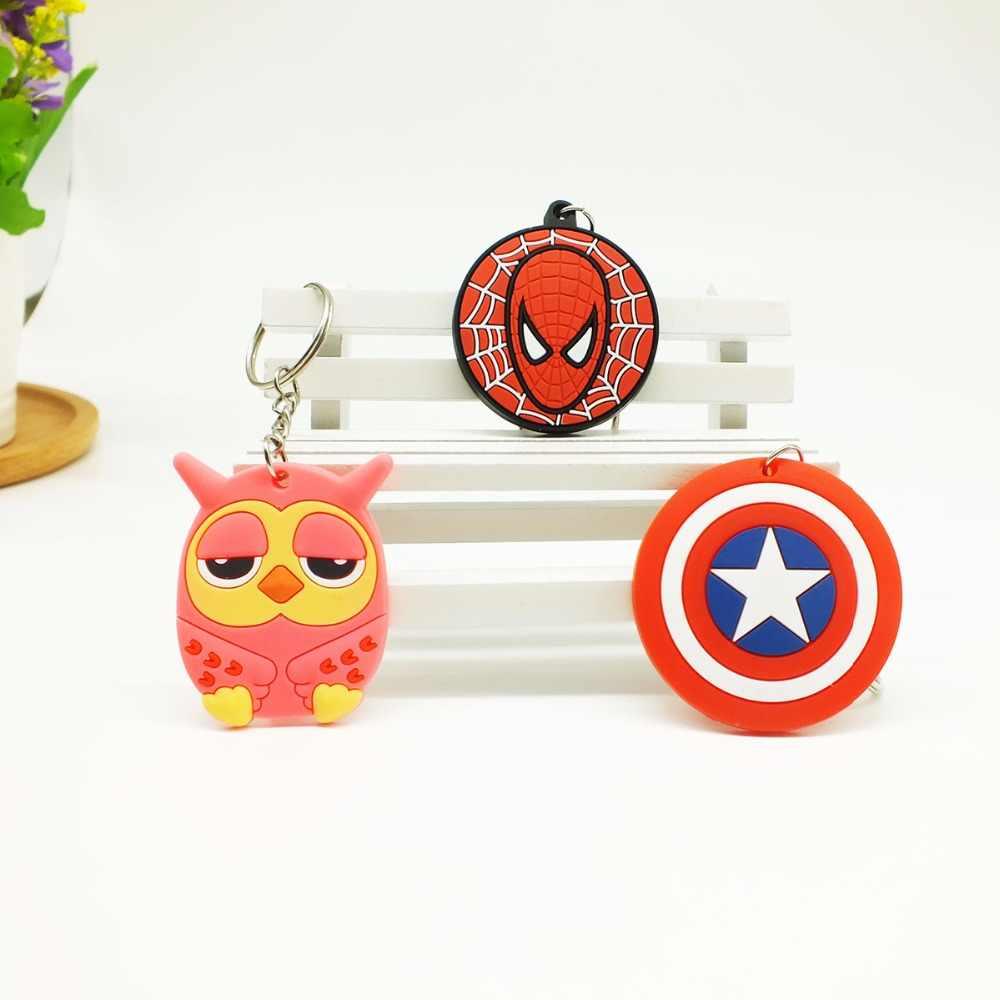 Zoeber Natal Dos Desenhos Animados Anime crianças Keychain saco chaveiro KT coruja pingentes encantos phone straps Marvel modelo chaveiro