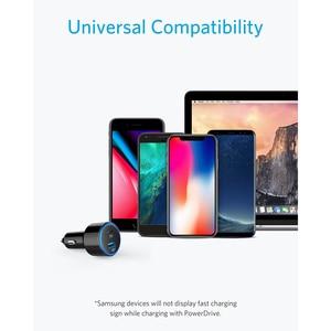 Image 4 - Anker 49.5W PowerDrive Speed + 2 USB C chargeur de voiture, un Port 30W PD pour MacBook iPad iPhone & 19.5W Port de Charge rapide pour S9/S8 etc.