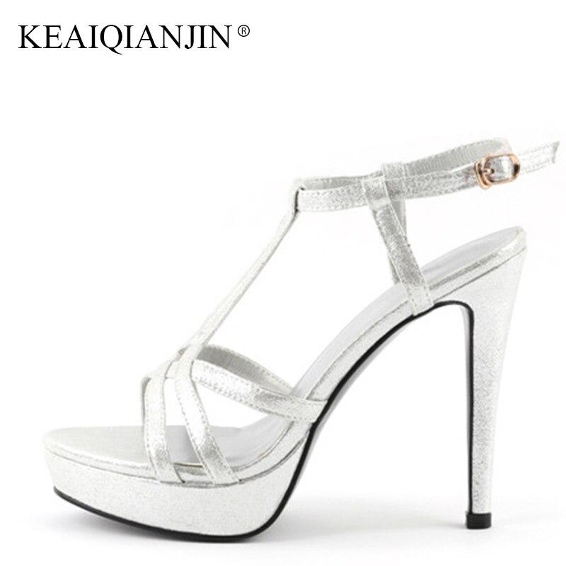 878a4500474 Tacones Moda Genuino Verano Gladiador Mujer Negro Sexy Cuero Altos Sandalia  Sandalias Peep Zapatos Plateada Negro Keaiqianjin Toe ...