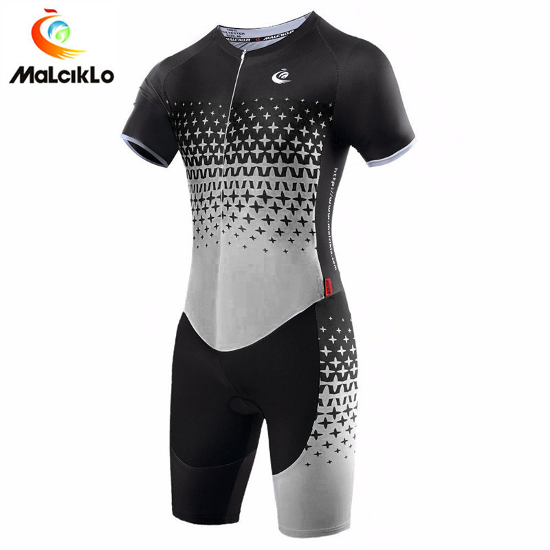 Triathlon Suit 2018 High Quality Ropa Ciclismo Maillot Men's Cycling Jersey Gray Bike Clothing Sport For Running Swimming