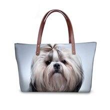Mulheres Moda Bolsas Bolsas de Ombro Saco Dachshund Beagle Impresso Top- handle Bags para Mulheres fd976d0d7ab