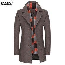 BOLUBAO Winter New Men Wool Blends Coats Men's Thick Warm Sc