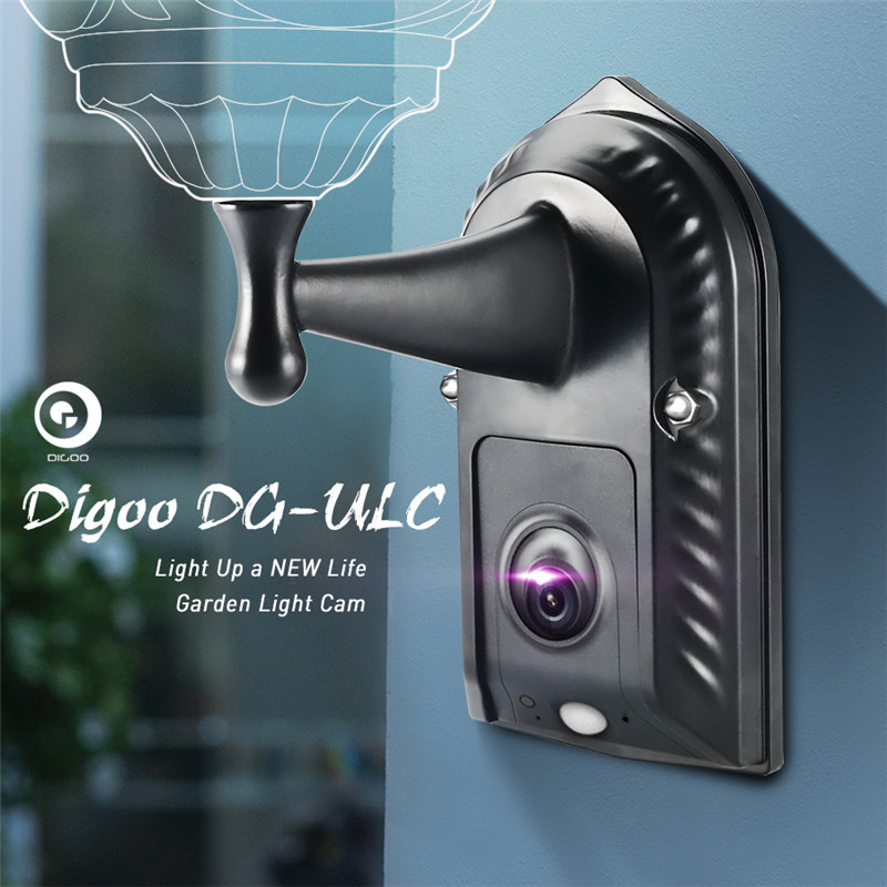 DIGOO DG ULC ULC Gardening Flood Light Holder Camera WIFI H.265 HD 120 Wide Angle 1080P 2.4mm Lens PIR Sensor  IPX5 Waterproof|camera wifi|wifi cameracamera wide angle - AliExpress