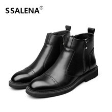 Men Round Toe Comfort Ankle Boots Male Zipped Casual Fashion High Top Shoes Men Fashion Non-slip Working Short Boots AA60529