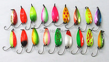 4g Ice Fishing Lure Spoon Bait Single Hook Metal Bait Fresh Water Fish Lure False Bait By Copper material