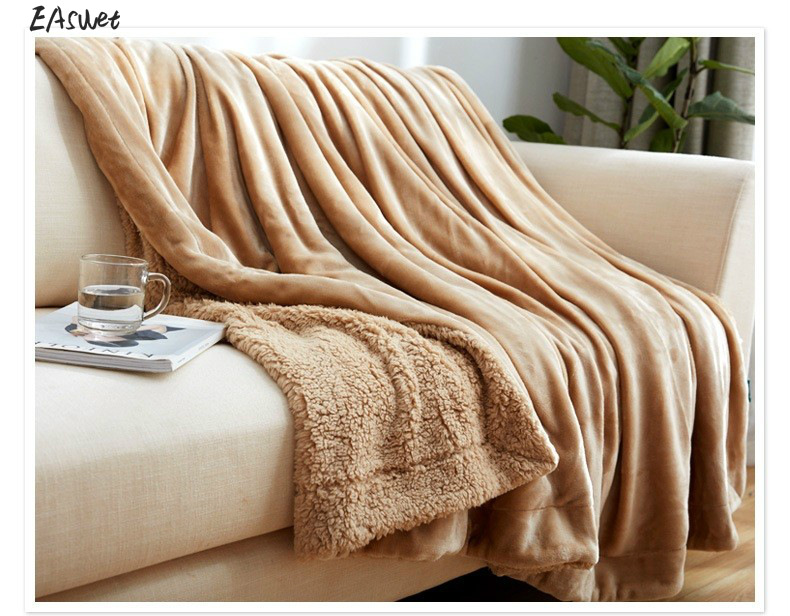 Luxury Top Quality Double Layer Sherpa Blanket Throw Warm