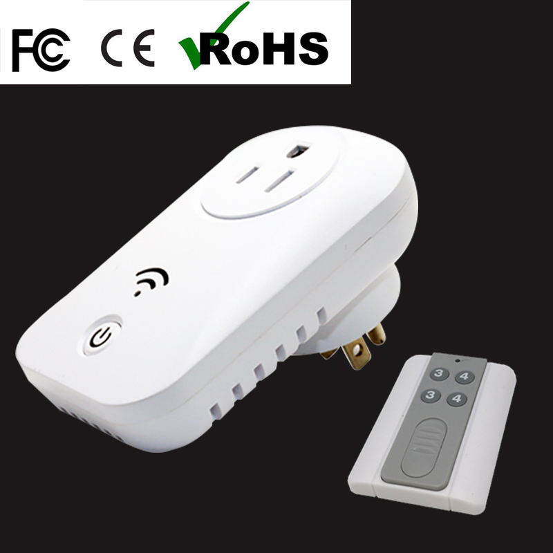 the most ideal USA standard 10A AC110V/220V portable power socket good quality electric socket plug socket with remote control