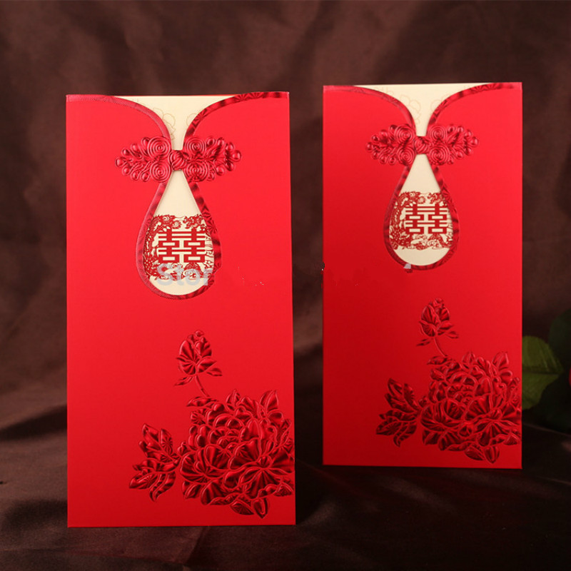 20 pcs lot laser cut wedding invitation cards kit chinese for Blank chinese wedding invitations