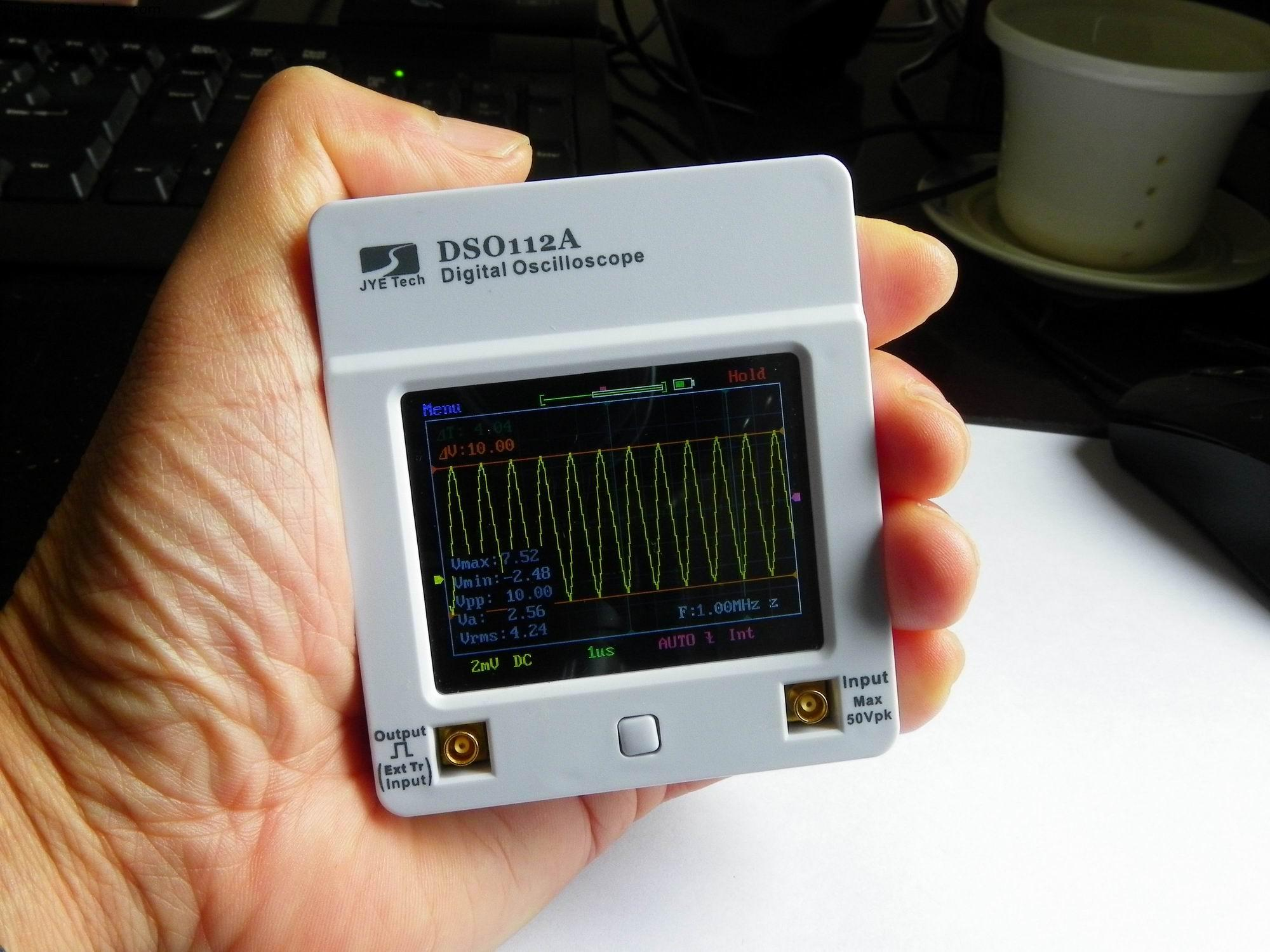 Osciloscopio DSO 112A TFT Touch Screen Tragbare Mini Digital Oszilloskop USB Interface 2 MHz 5 Msps oscyloskopy osciloscop