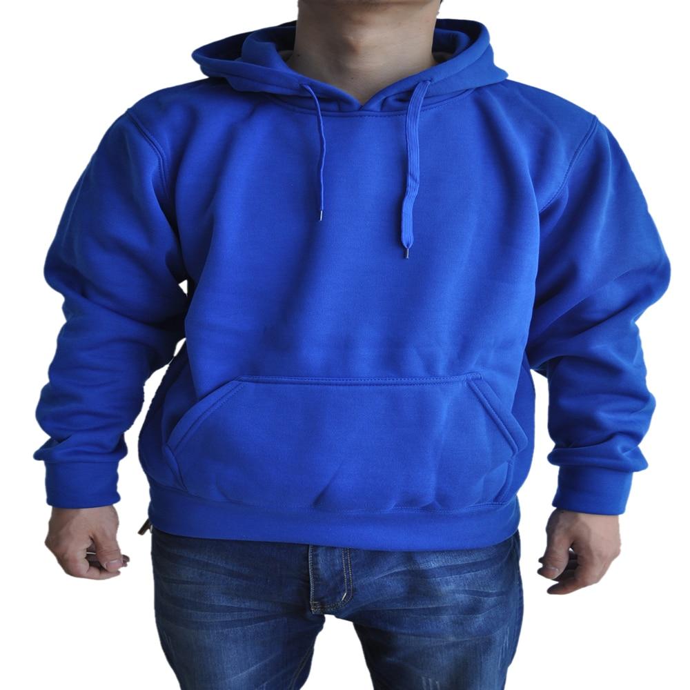 SYB 2016 NEW New spring/autumn Mens fashion Casual Hoddies Sweatshirts High Quality Men sportswear solid Fleece hoody Blue