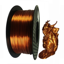 Silk Metal 3D Printing PLA Filament 1.75mm 1KG Material Best Seller Plastic Shiny For